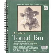 amazon com strathmore 400 series toned tan sketch pad 9