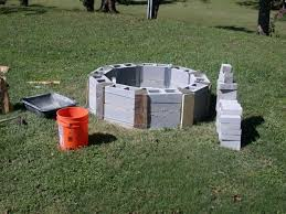 Firepit Blocks Diy Cinder Block Pit Pit Ideas