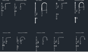 grohe minta kitchen faucet kitchen faucets cad blocks free cad block and autocad drawing