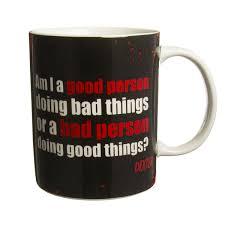 dexter morgan 11oz ceramic coffee mug serial killer porcelain cup