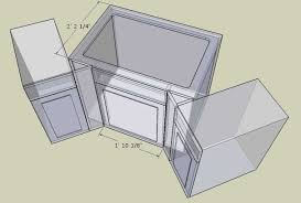 corner kitchen sink cabinet plans corner cabinet conundrum