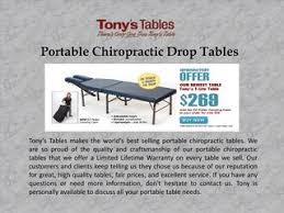 portable chiropractic drop table portable chiropractic drop tables by tonystables issuu