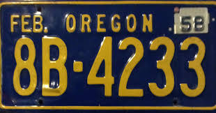 Vanity Plates Maine 1958 License Plate Plate Collection And Restoration 1958 Oregon