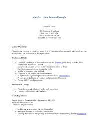sample administrative resumes legal secretary sample resumes pertaining to legal secretary male secretary resume example careeer objective