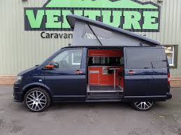 orange volkswagen van converted 2013 vw t5 night blue camper van venture campers