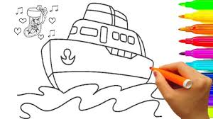 how to draw boat and sock coloring pages fun coloring book video