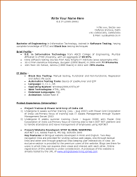 fresher resume for software testing resume for your job application