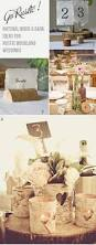 natural wooden bark and tree slice wedding decoration ideas