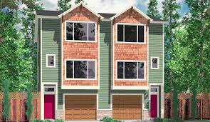 home plans for narrow lot duplex house plans narrow lot townhouse plans d 526