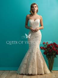Lace Wedding Dress Mermaid Lace Wedding Dress With Strapless Sweetheart Neckline