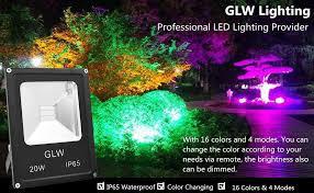 Color Changing Landscape Lights Glw Led Rgb Flood Light 20w Outdoor Color Changing Lights With