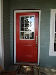 Front Door Windows Inspiration Furniture Small Red Front Door Design In Traditional Ideas Made