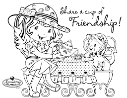 strawberry shortcake coloring pages 2 coloring page