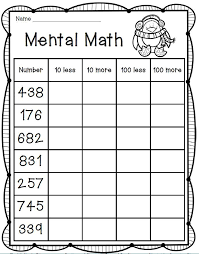 mental math freebie 2nd grade math best of second grade