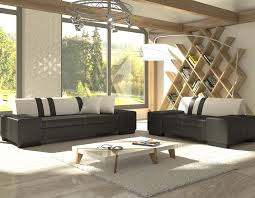 canap fixe 2 places ensemble canapé fixe pas cher 3 et 2 places noir et blanc