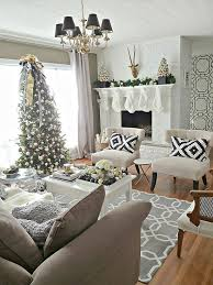 My Home Decoration Pretty Christmas Living Rooms Black White Gold Vignettes And