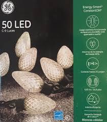 energy star led c9 lights ge energy smart 50 led warm white c9 lights green wire christmas