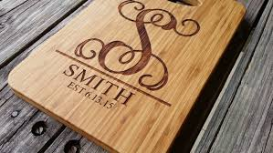 personalized cutting board custom bamboo cutting board