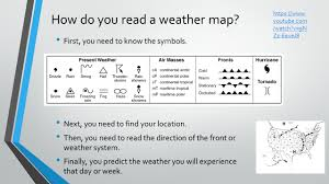 How To Read A Map Warm Up Write 10 Things You Notice About The Weather Map Yc