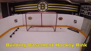 building basement hockey rink for my nephew youtube