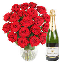 next day delivery gifts 20 luxury roses with chagne http www serenataflowers