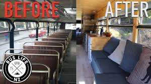 skoolie conversion from bus to tiny home on wheels in 5 minutes skoolie