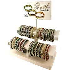 bracelet display images Faith bracelets display debry company png