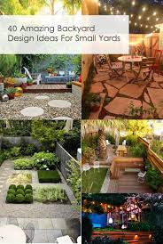 Small Backyard Design Ideas Pictures 40 Amazing Design Ideas For Small Backyards