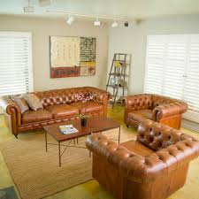 Orange Leather Sofa Set Living Room Furniture Living Room Large Coffee Table And