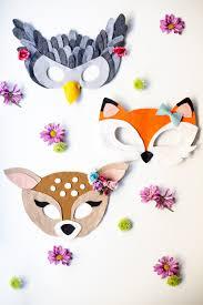 no sew free felt animal mask patterns flax u0026 twine