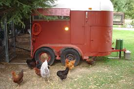cool coops re purposed trailer coop community chickens