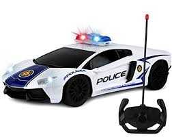 toy police cars with working lights and sirens for sale kiddie play rc remote control toy police car for kids 1 16 scale