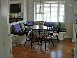Banquette Seating Dining Room Dining Room Exciting L Banquette Seating With Round Dining Table