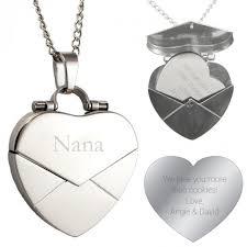 personalized heart locket engraved secret message heart envelope locket forallgifts