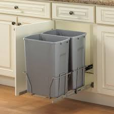 kitchen kitchen recycling bins stainless trash can double