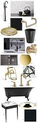 Kitchen Bath Collection by Kitchen And Bath Trend Matte Black And Brass Pulp Design