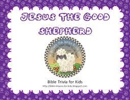 bible trivia for kids jesus the good shepherd free printable