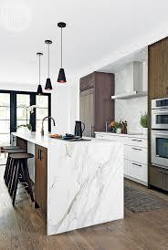 Kitchen Island Pinterest Kitchen Furniture Best Waterfall Countertop Ideas On Pinterest
