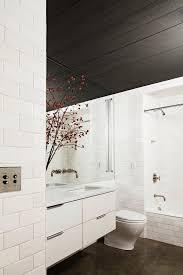 Slanted Ceiling Bathroom Bathroom Industrial With Tiled Bath Tiled - Floor to ceiling bathroom vanity