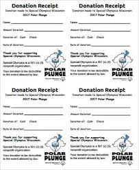 non profit donation receipt 7 examples in word pdf