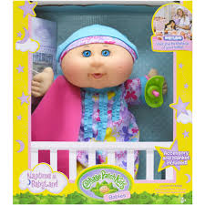 cabbage patch naptime babies doll hair blue eye