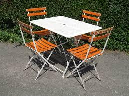 Retro Garden Chairs G255 S Vintage French Folding Garden Café Table With Pierced