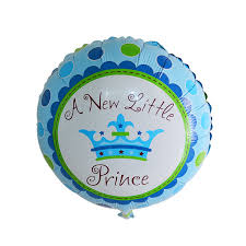 a new prince baby shower 2pc festa new princess baby shower prince crown foil