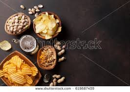 table snack cuisine lager snacks on table stock photo 619687409