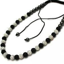 shamballa bracelet jewelry images Crystal jet black ion shamballa necklace 45 beads ion jpg