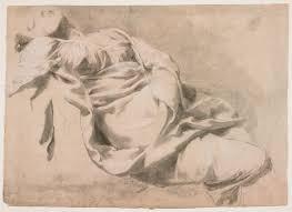 Drapery Art Drapery Study Of A Reclining Woman Recto Study Of A Leg Verso