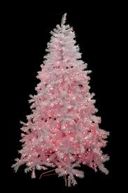 7 5 pre lit white cedar pine artificial tree pink