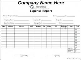 Detailed Expense Report Template by Expense Report Template Word Excel Templates