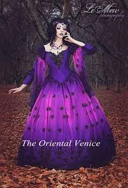 purple wedding dresses ombre fairy wedding gowns purple and black lace