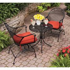 Wrought Iron Bistro Chairs Wrought Iron Bistro Set Outdoor Patio Small Dining Lawn Pool